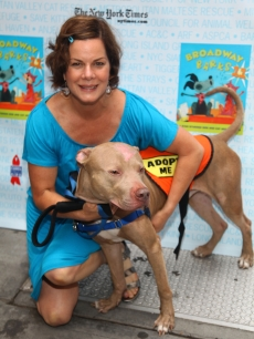 Marcia Gay Harden is all smiles at the 11th Annual Broadway Barks event in Shubert Theatre in New York City on July 11, 2009