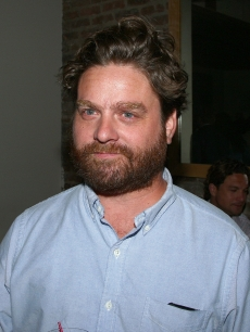 'Hangover' funnyman Zach Galifianakis attends the after party for The Cinema Society and The New Yorker's screening of 'In The Loop' in New York City on July 13, 2009