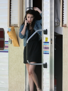 Emma Roberts hits the set of 'Valentines Day,' Los Angeles, July 14, 2009