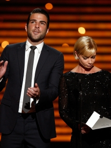 Zachary Quinto & Jaime Pressly at the 2009 ESPY Awards, Los Angeles, July 15, 2009