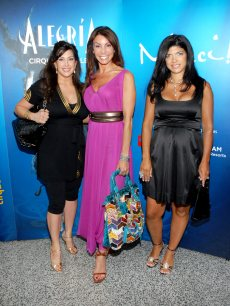 &#8216;Real Housewives of New Jersey&#8217; stars Jacqueline Laurita, Danielle Staub and Teresa Giudice visit Cirque du Soleil&#8217;s &#8216;Alegria&#8217; in Newark, New Jersey on July 15, 2009 