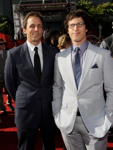 'SNL' stars Seth Meyers and Andy Samberg arrive at the 2009 ESPY Awards in LA on July 15, 2009