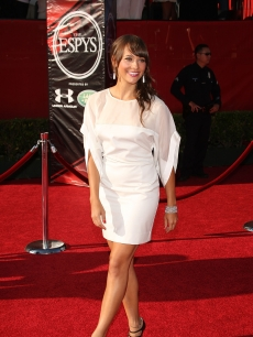 Rashida Jones looks glam on the red carpet at the 2009 ESPY Awards in LA on July 15, 2009 