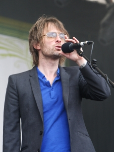 Radiohead's Thom Yorke takes the stage at the Latitude Festival in Southwold, England, on July 19, 2009