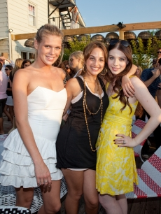 Alexandra Richards, Alexa Ray Joel and Michelle Trachtenberg look fabulous at a summer concert performance by Alexa Ray Joel to benefit the Art of Elysium in Montauk, New York on July 18, 2009