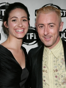 Emmy Rossum and Alan Cumming hit the red carpet at the 2009 Outfest Closing Night Gala Premiere of 'Dare' in Hollywood on July 19, 2009