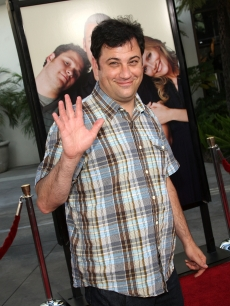 Jimmy Kimmel is all smiles at the premiere of  &#8216;Funny People&#8217; in Hollywood on July 20, 2009 