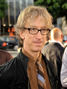 Andy Dick smiles at the premiere of 'Funny People' in Hollywood on July 20, 2009