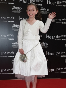 Hollie Steele, a former 'Britain's Got Talent' contender, attends the Bryan Adams 'Hear The World Ambassadors' exhibition at Saatchi Gallery in London on July 21, 2009