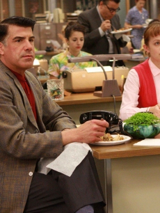 Bryan Batt and Elizabeth Moss film a scene for &#8216;Mad Men&#8217;s&#8217; Season 2 
