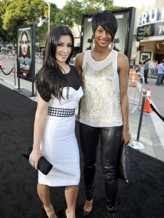 Kim Kardashian and Ciara hit the red carpet at the Hollywood premiere of  'Orphan' on July 21, 2009