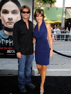 Harry Hamlin and Lisa Rinna arrive to the Hollywood premiere of 'Orphan' on July 21, 2009