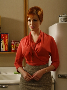 Christina Hendricks bosses the Sterling Cooper ladies around as Joan Holloway on 'Mad Men'