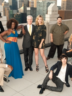 Heidi Klum and Tim Gunn with the contestants on Lifetime&#8217;s &#8216;Project Runway: All-Star Challenge&#8217;