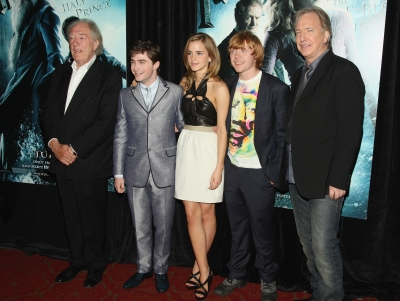 Michael Gambon, Daniel Radcliffe, Emma Watson, Rupert Grint and Alan Rickman attend the &#8216;Harry Potter and the Half-Blood Prince&#8217; premiere in New York City on July 9, 2009 