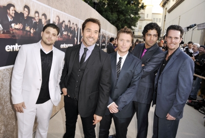 Jerry Ferrara, Jeremy Piven, Adrian Grenier, Kevin Connolly and Kevin Dillon strike a pose at the premiere of HBO's 'Entourage' - Season 6 in Los Angeles on July 9, 2009