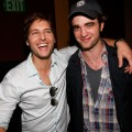 Peter Facinelli and Robert Pattinson share a laugh at The Twilight Fan Experience screening during Comic-Con 2009 in San Diego on July 23, 2009