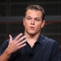 Matt Damon talks at 'The People Speak' panel on July 29, 2009 in Pasadena, Calif.