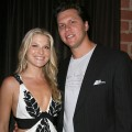 Ali Larter and husband Hayes MacArthur together at a 'Heroes' event on September 7, 2008