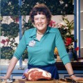 Legendary chef Julia Child in the kitchen
