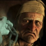 Jim Carrey looks eerie for his role as Ebenezer Scrooge in 'A Christmas Carol'