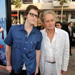 Cameron Douglas and Michael Douglas arrive at the premiere of Warner Bros. 'Ghosts Of Girlfriends Past,' Los Angeles, April 27, 2009