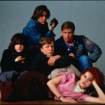 Stars of the John Hughes classic 'The Breakfast Club' pose in 1985