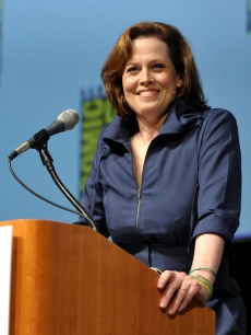 Sigourney Weaver takes the stage at the Comic-Con 2009 'Avatar' press conference in San Diego on July 23, 2009
