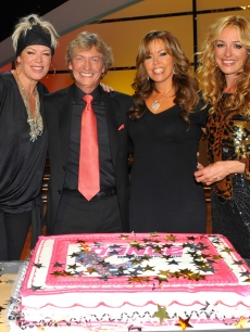Choreographer Mia Michaels, co-creator/executive producer Nigel Lythgoe, show judge Mary Murphy; and host Cat Deeley pose at the celebration of the 100th episode of 'So You Think You Can Dance' in Los Angeles on July 23, 2009