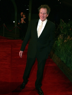 Geoffrey Rush arrives for the opening night of the Melbourne International Film Festival in Australia on July 24, 2009 