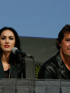 Megan Fox and Josh Brolin speak during a panel for &#8216;Jonah Hex&#8217; at Comic-Con 2009 in San Diego on July 24, 2009 