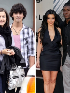 Joe Jonas and Camilla Belle/Kim Kardashian and Reggie Bush