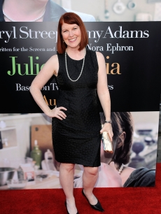 'The Office' star Kate Flannery hits the red carpet at the Los Angeles premiere of 'Julie & Julia' on July 28, 2009