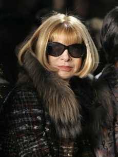 Anna Wintour at NY Fashion Week (Feb. 2009)