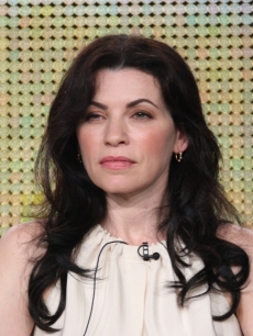 Julianna Margulies of the show &#8216;The Good Wife&#8217; listens during the CBS Network portion of the 2009 Summer Television Critics Association Press Tour at The Langham Huntington Hotel &amp; Spa in Pasadena, California on August 3, 2009