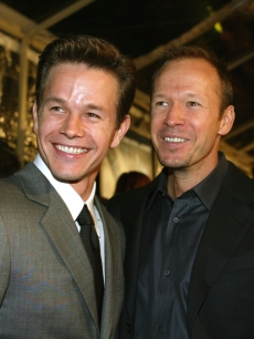 Mark Wahlberg and Donnie Wahlberg at the premiere of &#8216;The Truth About Charlie&#8217; at the Samuel Goldwyn Theatre in Beverly Hills in 2002