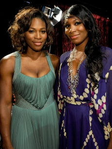 Serena Williams and Venus Williams backstage during the 2009 ESPY awards held at Nokia Theatre LA Live in Los Angeles on July 15, 2009 