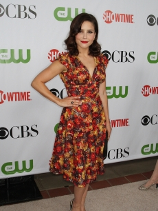 Sophia Bush rocks a floral frock at the CBS TCA party at the Huntington Library in Pasadena, California on August 3, 2009