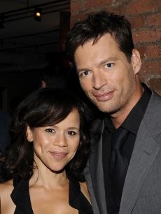 Rosie Perez and Harry Connick Jr. strike a pose during Connick's 'Your Songs' listening event in New York City on August 4, 2009