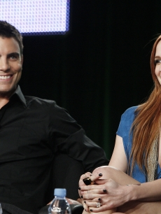 Two of the new faces of 'Melrose Place,' Colin Egglesfield and Ashlee Simpson-Wentz, chat about the show during the 2009 Summer Television Critics Association press tour in Pasadena, California on August 4, 2009
