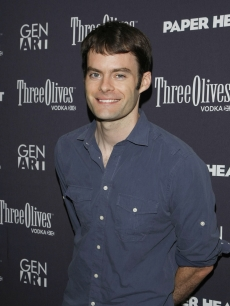 Bill Hader is all smiles at the New York screening of 'Paper Heart' on August 5, 2009