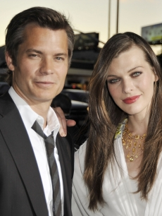 Timothy Olyphant and Milla Jovovich hit the red carpet at the premiere of &#8216;A Perfect Getaway&#8217; in Los Angeles on August 5, 2009
