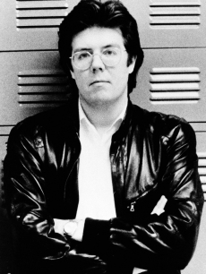 Director John Hughes photographed in 1984