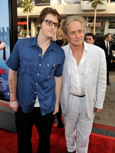 Cameron Douglas and Michael Douglas arrive at the premiere of Warner Bros. &#8216;Ghosts Of Girlfriends Past,&#8217; Los Angeles, April 27, 2009