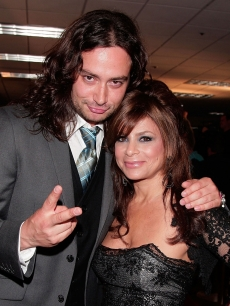 Constantine Maroulis and Paula Abdul arrive at the Lili Claire Foundation 10th annual benefit dinner and auction held at the Hyatt Regency Century Plaza on October 13, 2007 in Los Angeles