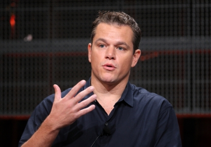 Matt Damon talks at &#8216;The People Speak&#8217; panel on July 29, 2009 in Pasadena, Calif.